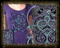 BARD SONG Triblend SS Tshirt By Jen Delyth