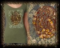 Woodland Fox  - Celtic Fox Triblend SS Tshirt By Jen Delyth