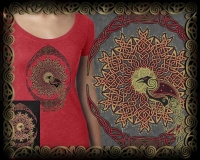 SOLSTICE RAVEN -  Vintage Heather Women's T - New! Vintage Heather Women's Fashion short-sleeve Shirts by Jen Delyth.