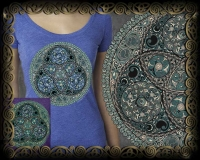 TRISKELION  -  Vintage Heather Women's T by Jen Delyth