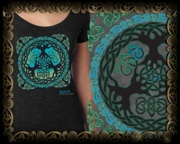 WORLD TREE yggdrasil  -  Vintage Heather Women's T