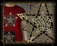 Pentacle Knot Tshirt By Jen Delyth