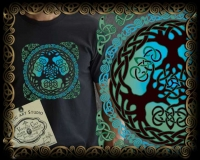 Yggdrasil - World Tree Tshirt By Jen Delyth