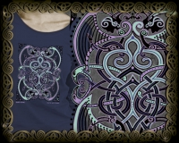 Bard Song Celtic Tshirt By Jen Delyth