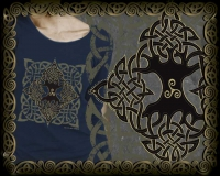 Pentacle Knot Long Sleeve Tshirt By Jen Delyth