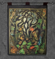 Woodland Fox Wall Hanging by Jen Delyth