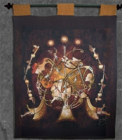 Celtic Musicians Wall Hanging by Jen Delyth