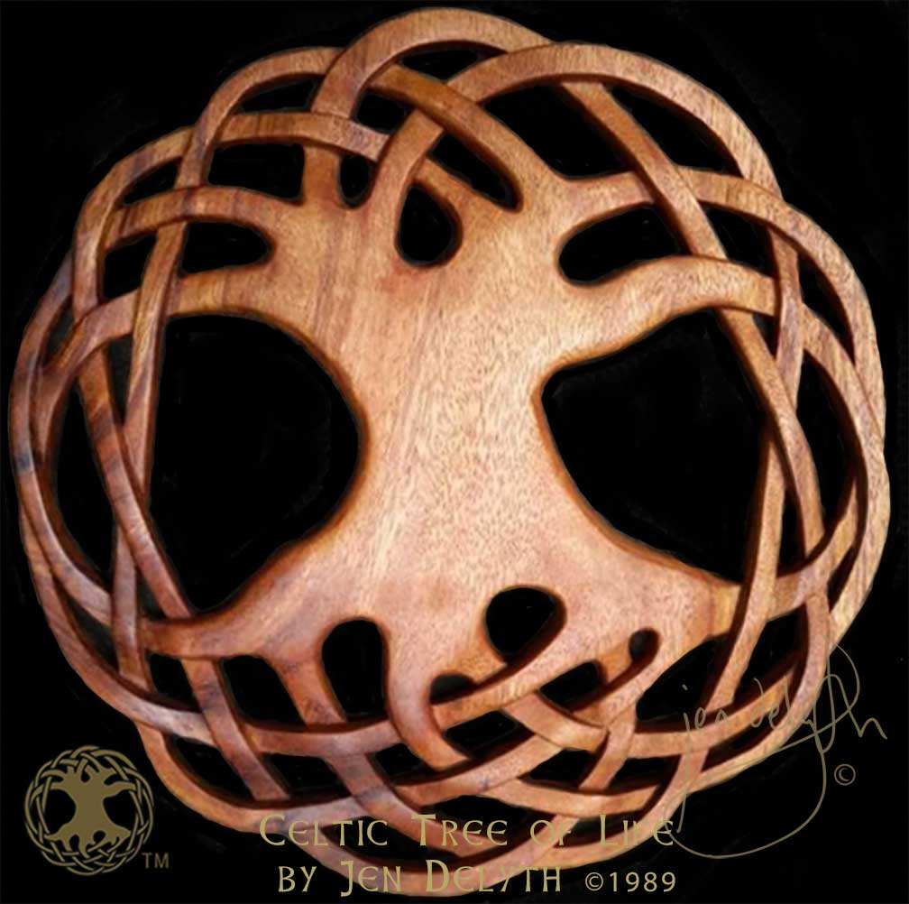 Celtic Tree Of Life Wood Carved Wall Art Celtic Art Studio Celtic
