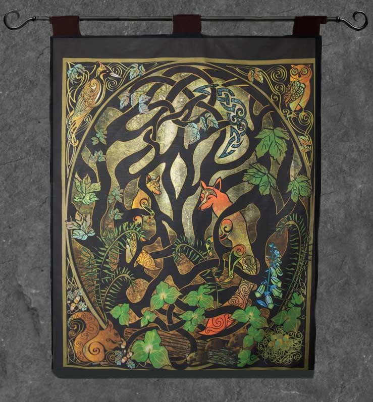 Woodland Fox Wall Hanging Celtic Art By Welsh Artist Jen