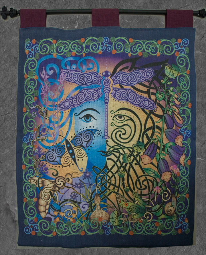 Garden Wall Hanging Green Man Woman Celtic Art By Welsh Artist Jen