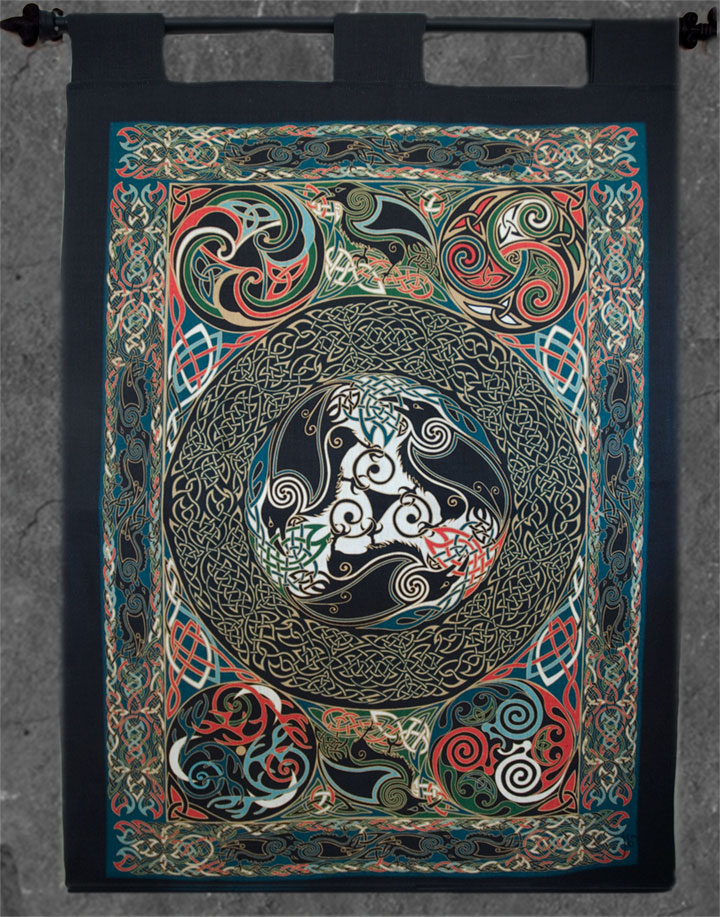 Morrigan Ravens Wall Hanging Celtic Art By Welsh Artist